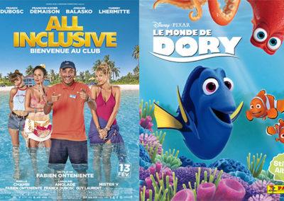 24 Août à 16h00…2 films sur écran géant pour petits et grands